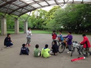 樹林公園で練習